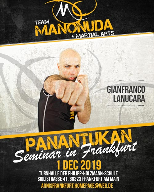Panantukan Seminar In Frankfurt Poster