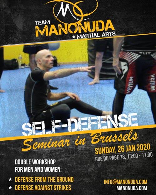 Self-Defense Seminar In Brussels Poster