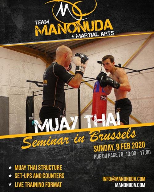 Muay Thai Seminar In Brussels Poster