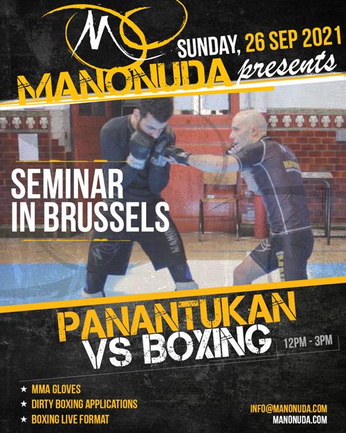 Panantukan Seminar In Brussels poster