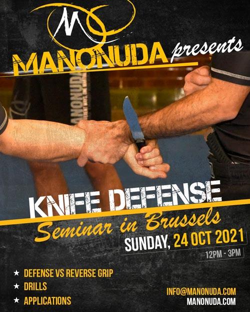 Knife Difense Seminar in Brussels Poster